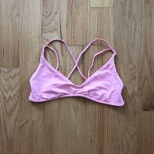 Frankie's Bikini's Cross Strap Bikini Top in M